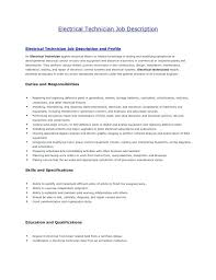 Maintenance Electrician Job Description Maintenance Job Resume Front ...