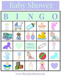Free And Printable Baby Shower Bingo Card  Baby Shower IdeasBaby Shower Bingo Cards Printable