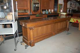 antique oak general store bar counter front bar tavern bar nice columns antique furniture apothecary general store