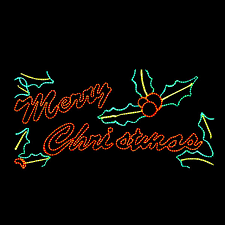 Merry Christmas Light Up Signs Outdoor Led Merry Christmas Motif Silhouette Yard Display 100mol947