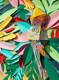 Mlle Hipolyte Recreates A Tropical Jungle With Hand Cut Paper
