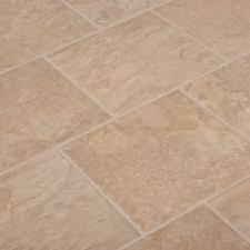 8mm   Tile Effect Laminate Flooring   Beige Slate