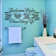 bathroom rules quote removable wall sticker vinyl art decals mural home decor china mainland on toilet rules wall art with bathroom rules wall stickers my web value