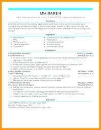 Sample Office Assistant Resume Gorgeous Executive Assistant Resume From Administrative Support Resume