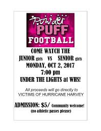 powder puff football flyers powder puff football western high school sports parma mi