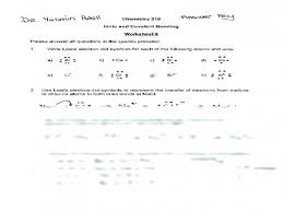 Lewis Structure Worksheets With Answers Electron Dot Diagrams And Lewis Structures Worksheet Answers