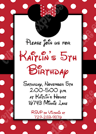 printable birthday party invitations diy minnie mouse 3 red printable birthday party invitation red