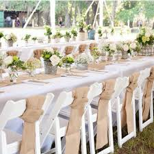 10m burlap lace hessian diy table runner cover chair sashes bands roll vintage jute rustic wedding party banquet home decoration whole party supplies