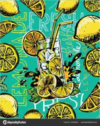 落書き夏イラストを手描きでレモネード夏の飲み物 ストックベクター