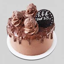 Send Chocolate Cake For Sister Birthday With Ferrero Rocher Topping
