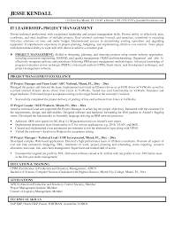 It Manager Resume For Job Of Your Sample Pdf Project Cv Template
