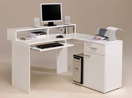 Perfect Modern White Desk Application For Home Office Amaza Design  pertaining to small white desk with ...