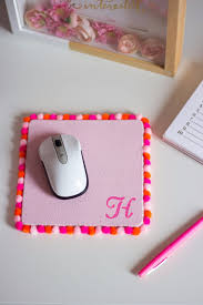 diy projects for teenagers pom pom mouse pad cool teen crafts ideas for bedroom