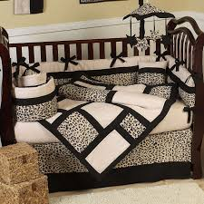 labels black toile crib bedding