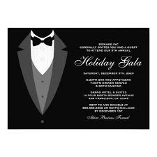 Tuxedo Holiday Gala Invitations Black Tie Event Zazzle Com