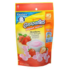 Gerber Feeding Chart For 6 Month Old Gerber Graduates Yogurt Melts Strawberry