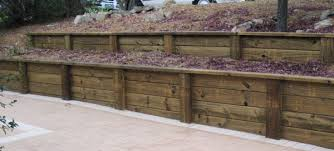 Small Picture Treated Wood Retaining Wall Design Treated Pine Sleepers
