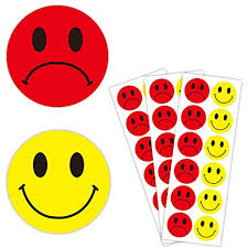 Behavior Smiley Chart Amazon Com 1 5 Inch Yellow Happy Smiley Face Stickers And