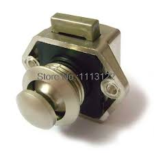 push button cabinet lock. Push Button Lock For Caravan Cabinet Latch Rv Motor Home Cupboard Throughout