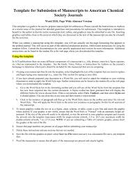 template for submissions to journal template for electronic submission to acs journals