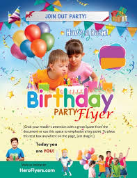 Birthday Flyers Free Creative Birthday Flyer Templates In Ms Word And Adobe