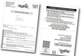 registrar mails postcards to update