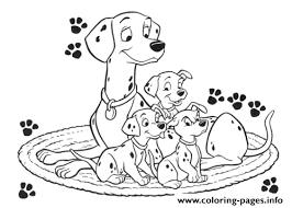Small Picture DALMATIANS COLORING Pages Free Download Printable