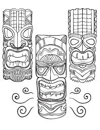 Small Picture Printable tiki mask coloring page Free PDF download at http