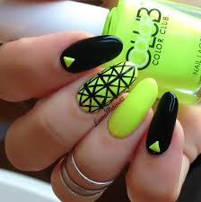 Nail Art- Black & Neon - YouTube