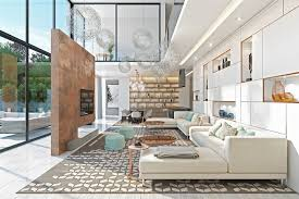 high ceiling room decoration. living-room-with-accent-wall modern house design, decorating ideas, high ceiling room decoration
