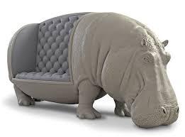Lifesize Hippopotamus Sofa / Statue