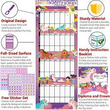 Potty Training Charts For Kids Potty Training Chart For Toddlers Unicorn Theme Sticker