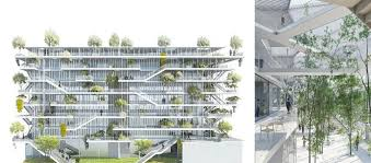 green office building. Open Concept Green Office Building In France | By NL*A Paris Jebiga Design \u0026 Lifestyle 2