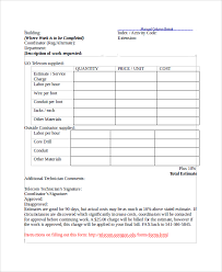 price estimate template estimate forms sample equipment estimate sheet 2 of 2 estimate