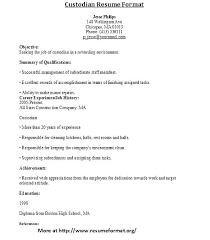 Custodian Resume Example Custodian Resume Sample From Professional