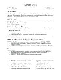Objective On Resume For Cna Nursing Objective Resume New Graduate Best Objectives Sample Ideas 89