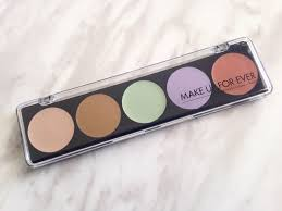 make up forever 5 camouflage cream palette