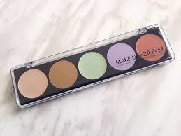 make up forever 5 camouflage cream palette