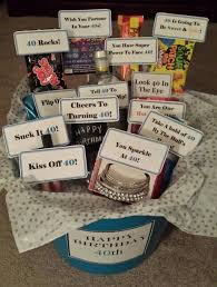 inside the turning 40th birthday gift basket my friend was sad about turning this milestone and created this basket to show she s stil
