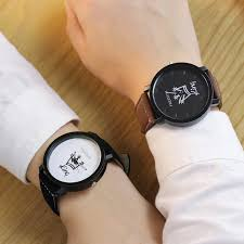 <b>New</b> Relogio Couples Watch <b>King</b> & <b>Queen Leather</b> Quartz Watch ...