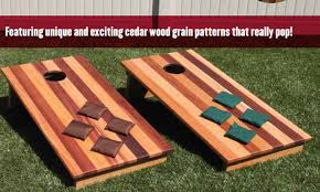Wooden Lawn Games Cedar Wood Bean Bag Toss Game 21
