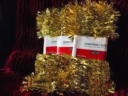 Ashland Led Light Garland Lot Of 3 Ashland Gold Tinsel Garland Holiday Christmas Decor 25 Ft Each