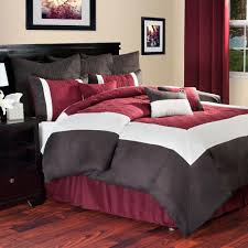 lavish home hotel 9 piece burdy queen comforter set 66 0014 q b the home depot