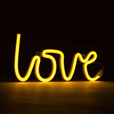 Bright Yellow Led Lights Neon Yellow Love Light From A Little Lovely Company