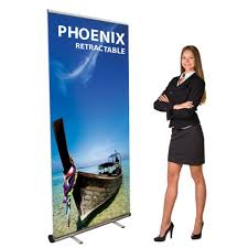 Retractable Display Stands Retractable Banner Stand 100w x 100h Anything Display 24