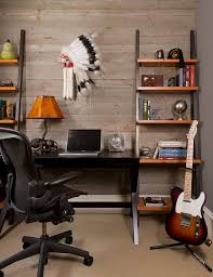 next office desk. Glamorous Leaning Shelves In Home Office Contemporary With Bookcase Desk Next To Shelving Alongside Guitar Display And Cool D