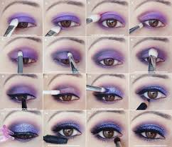 purple glitter eye makeup tutorial