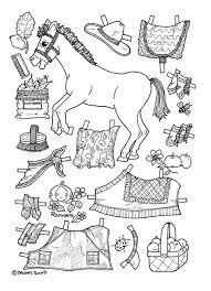 Small Picture Horse Paper Dolls Coloring Coloring Pages