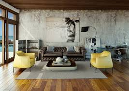 Living Room:Living Room Sectional Ideas Urban Living Rooms Wooden Floor  Sofa Black Yellow Chairs