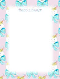 Easter Stationery Free Printable Unlined Christmas